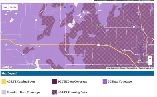 Us Cellular Prepaid Coverage Map Globalinterco - Us cellular lte map